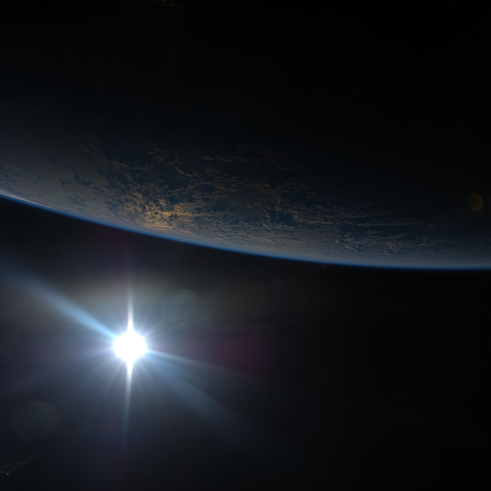 Sunset in orbit