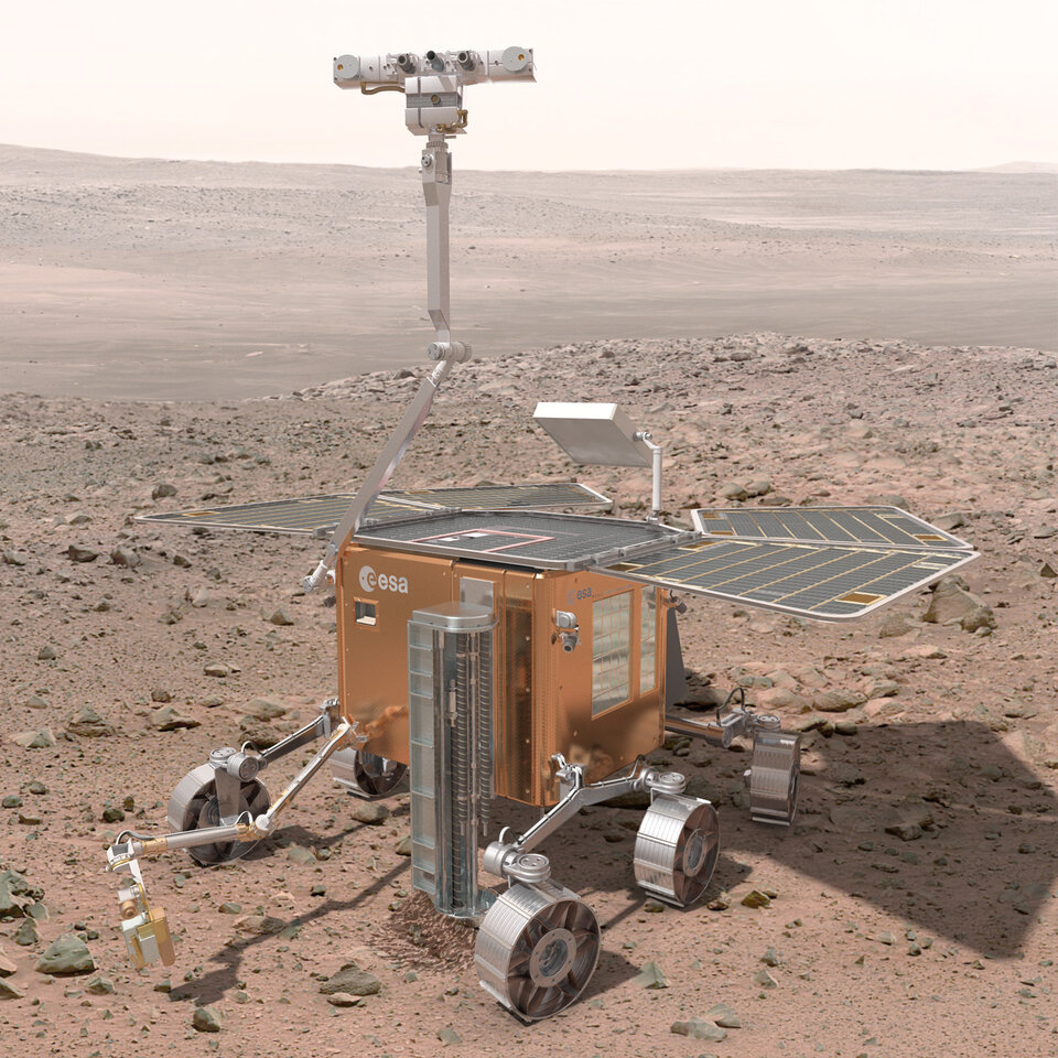 ExoMars rover on Mars