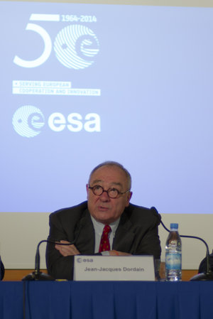 Jean-Jacques Dordain during the annual press briefing on 17 January 2014