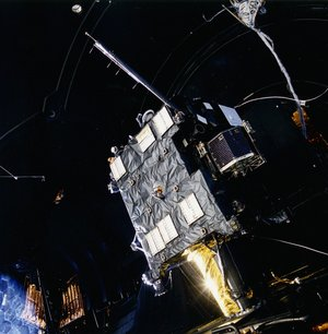 Rosetta flight model in test chamber