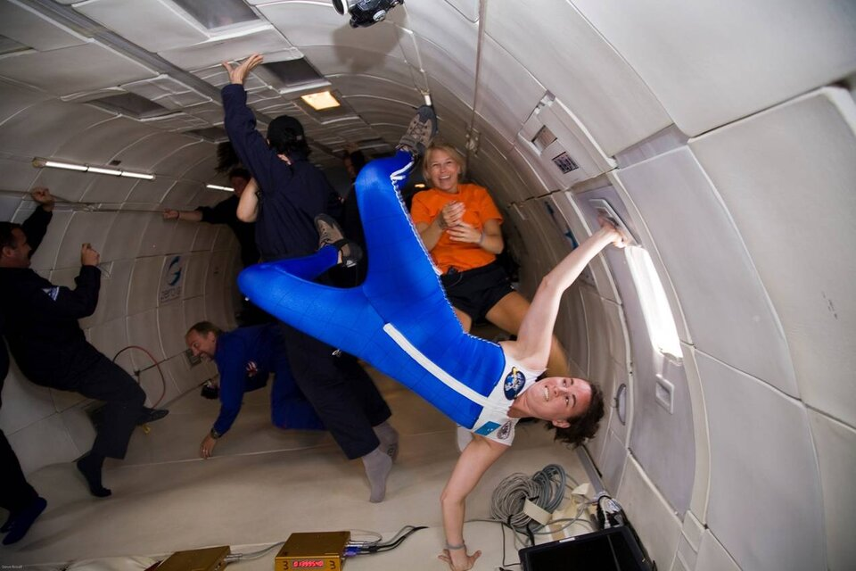 Testing the Skinsuit in weightlessness