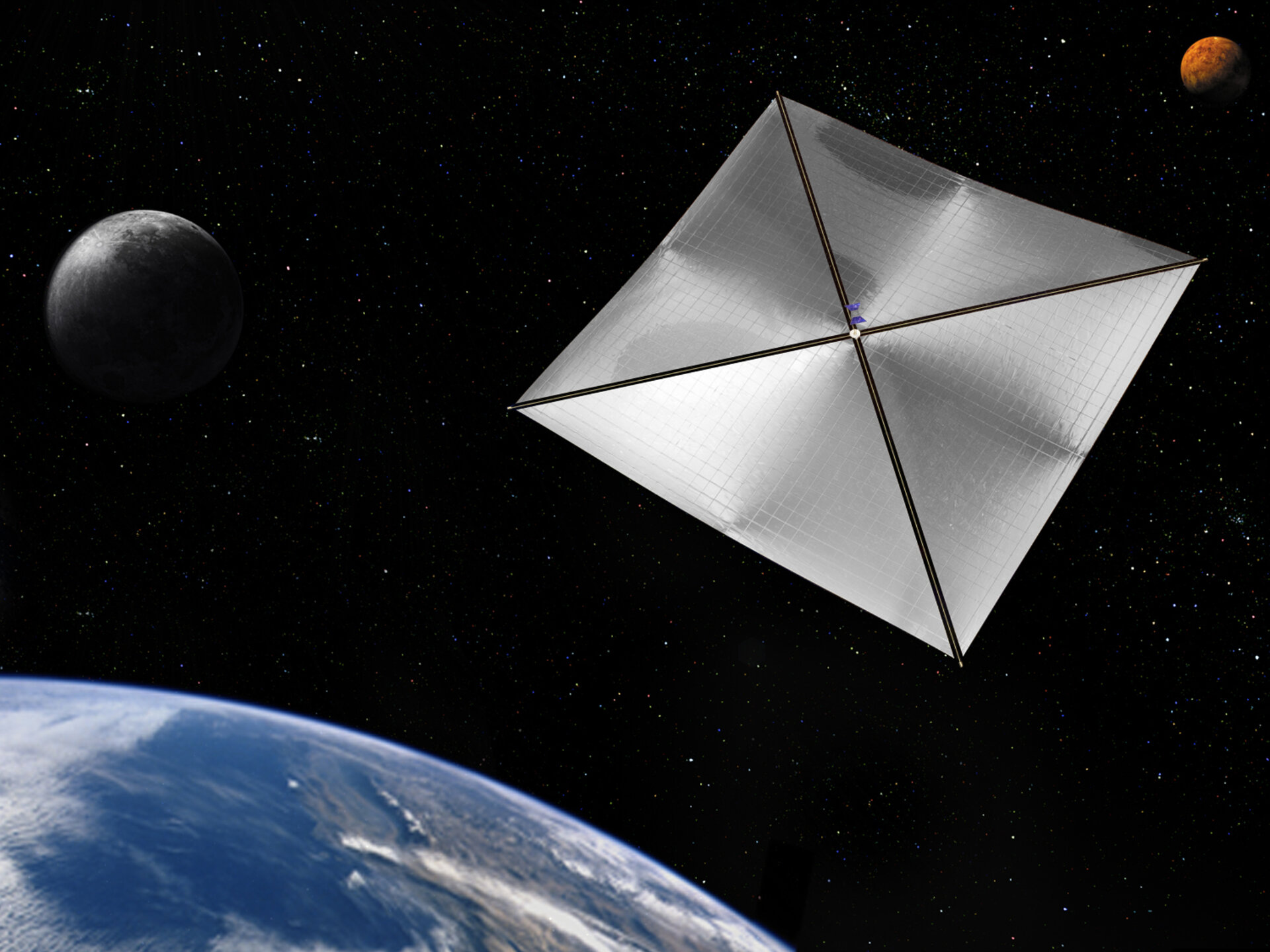 Solar sail could be used for deorbiting satellites