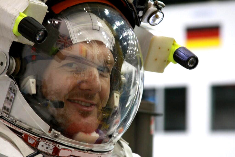 ESA astronaut Alexander Gerst during training