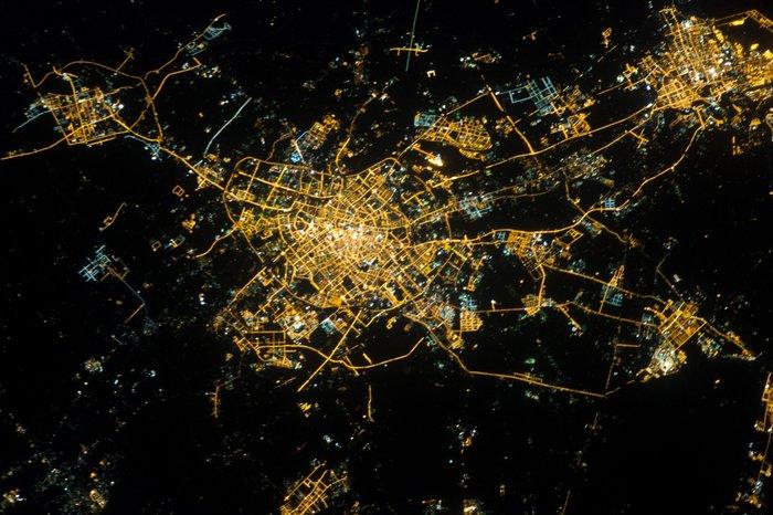 Imágenes satelitales nocturnas