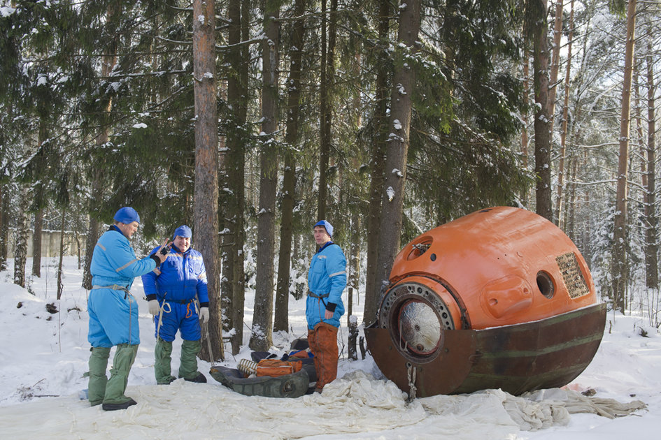 Winter survival training in Russia