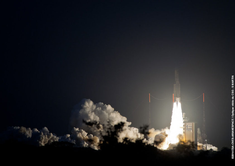 Ariane liftoff on flight VA217