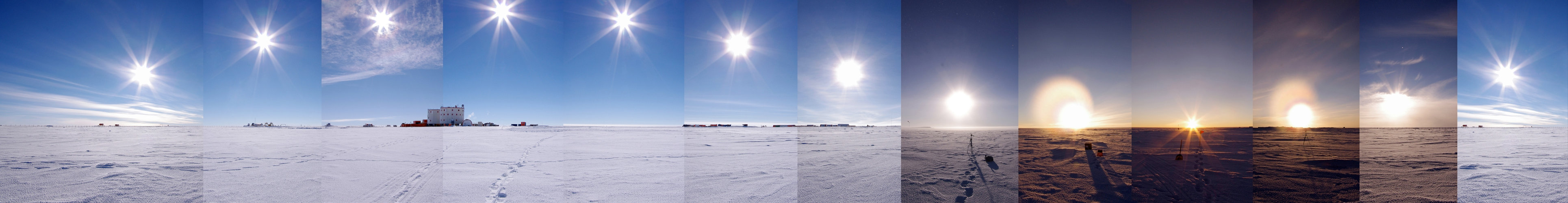 24-hour Antarctic panorama