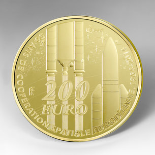 commemorative coins to mark 50 years of european space cooperation