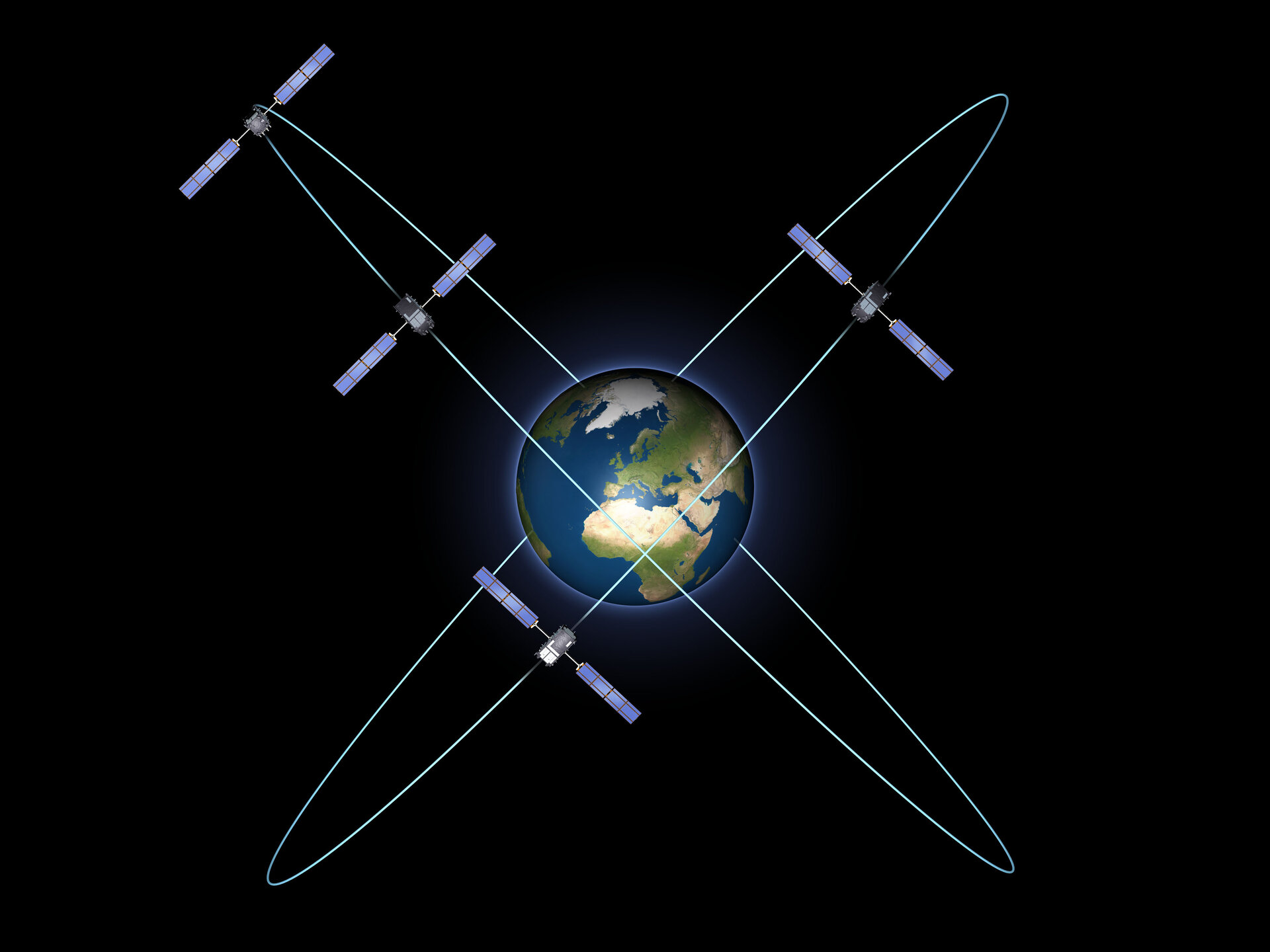 Four-satellite constellation