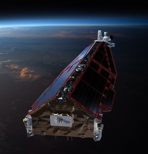 Front of Swarm satellite