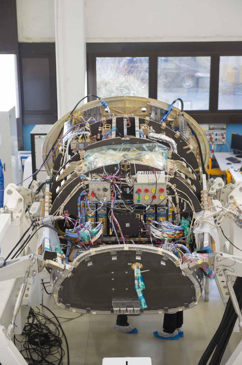 IXV during integration at Thales Alenia Space