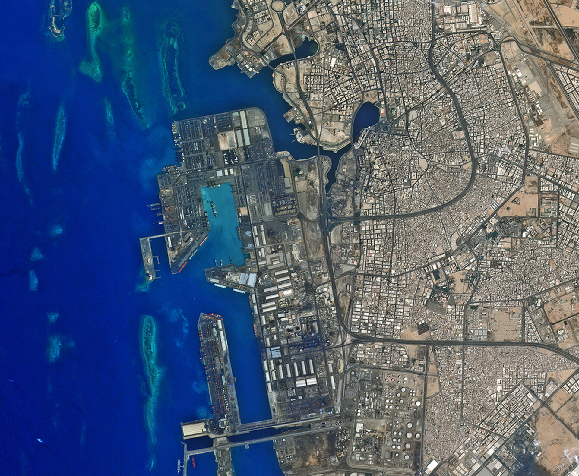 Jeddah's seaport on Saudi Arabia's western coast