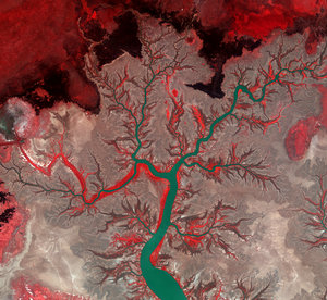 False-colour image of the Kumbunbur Creek in Australia's Northern Territory