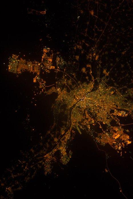 Imágenes nocturnas satelitales