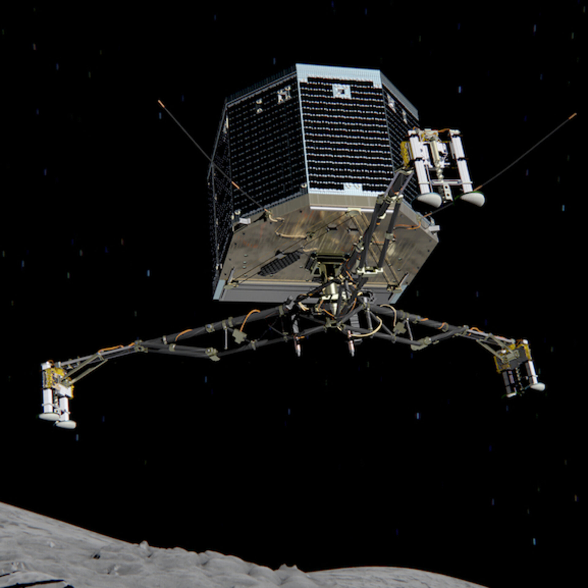 Philae descent
