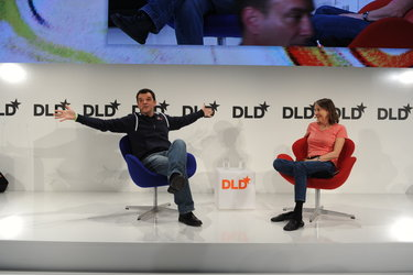 Andrea Accomazzo (ESA) and Esther Dyson at the DLD Conference 2015 in Munich