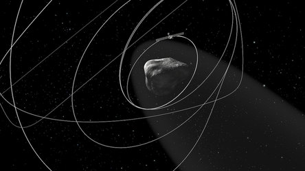 Rosetta orbiting the comet