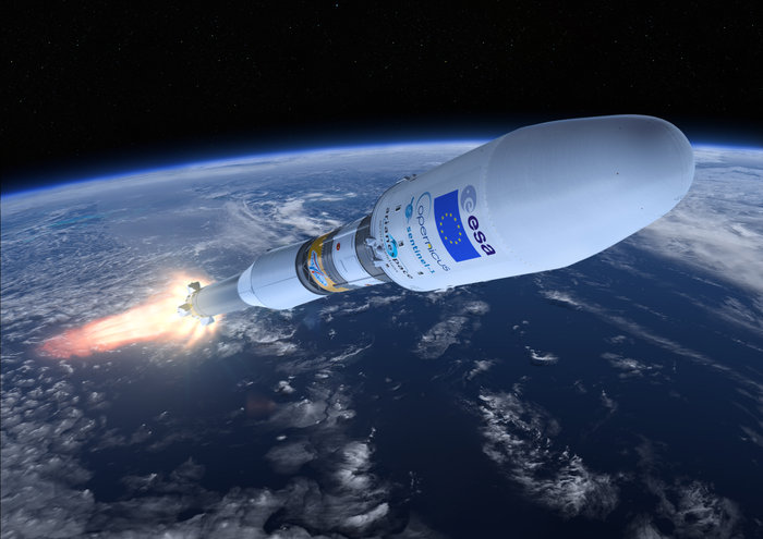 Sentinel-1A will be launched on board a Soyuz rocket from Kourou