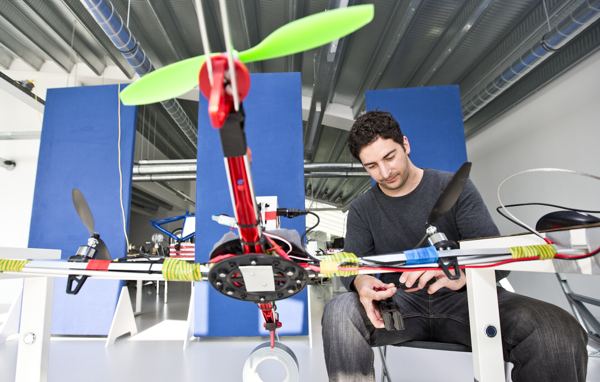 Working on quadcopter at ESA BIC
