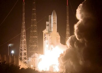 Ariane liftoff on flight VA216