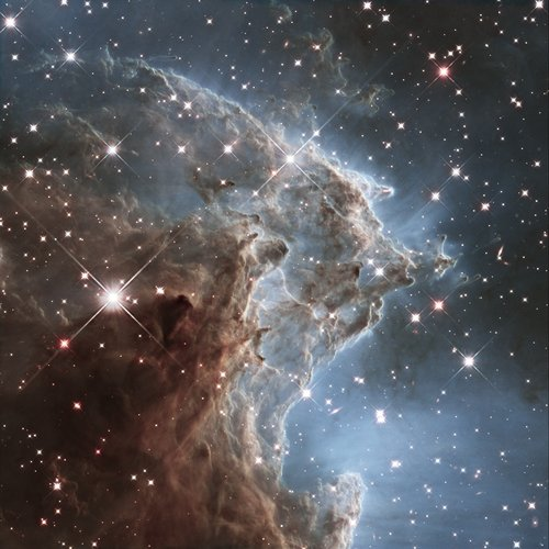 Hubble's 24th birthday snap of Monkey Head Nebula