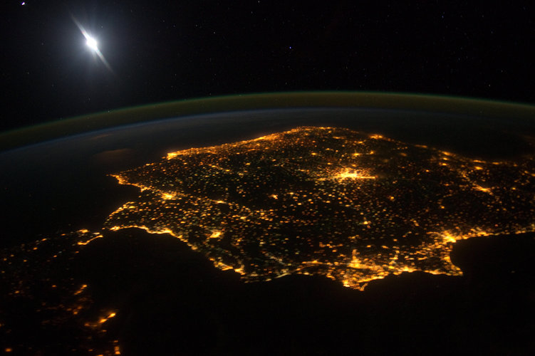 Iberia at night
