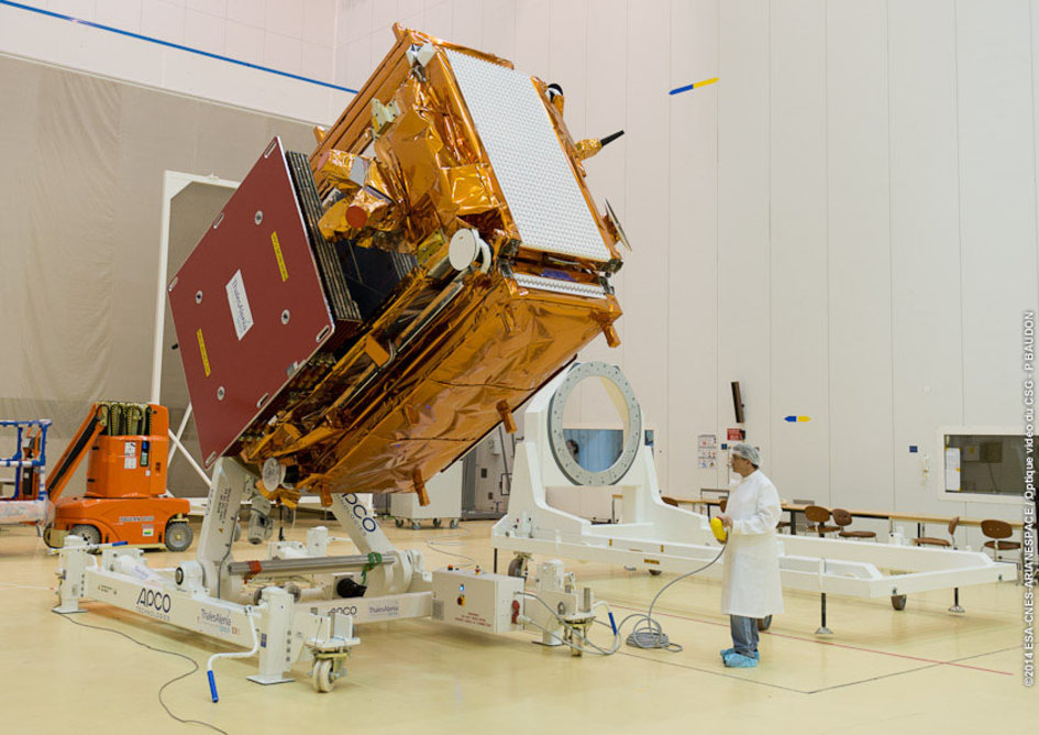 Preparing Sentinel-1A for launch