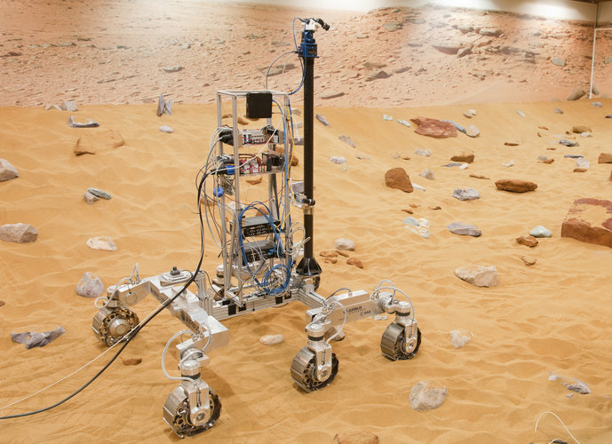 Roving in the Mars Yard