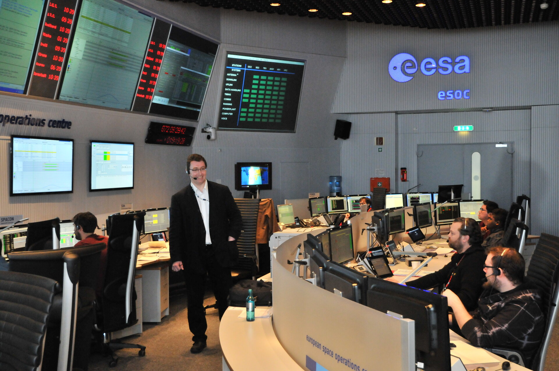 Sentinel-1 mission control team in training