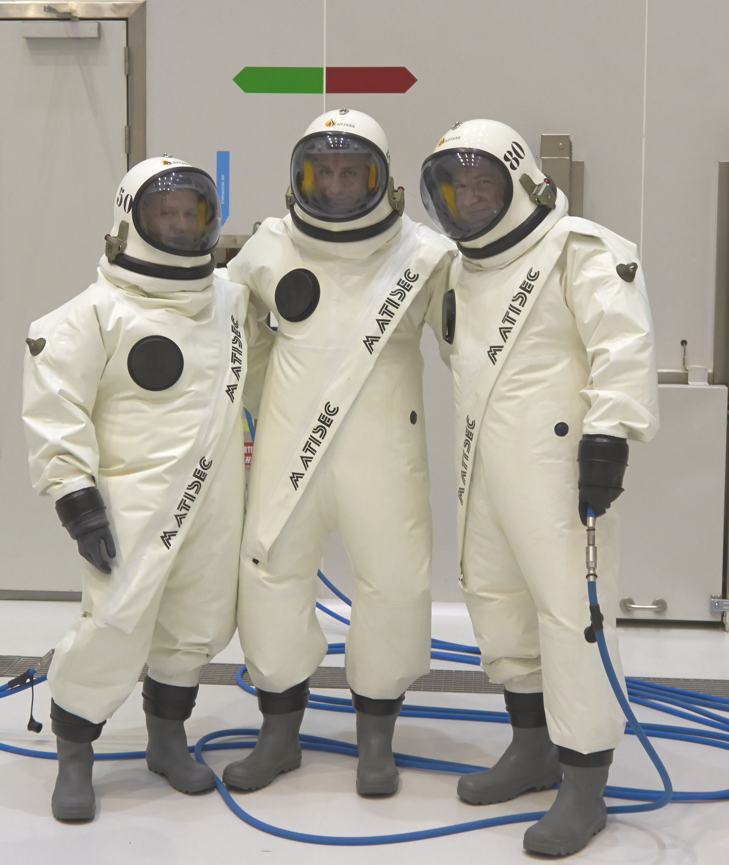 Space in Images - 2014 - 03 - Togged up in 'scape suits'