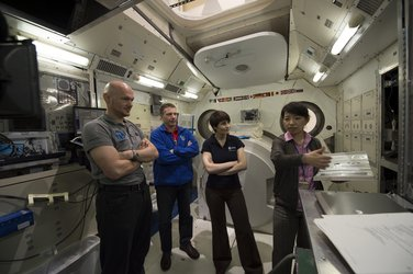 Alexander, Terry and Samantha at the Tsukuba Space Center