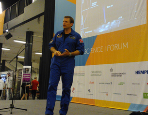 On 27 April 2014, ESA astronaut Andreas Mogensen announced his mission name, iriss, in Copenhagen at the Science Forum