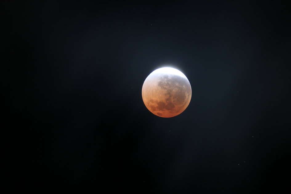 'Blood Moon' emerging from eclipse