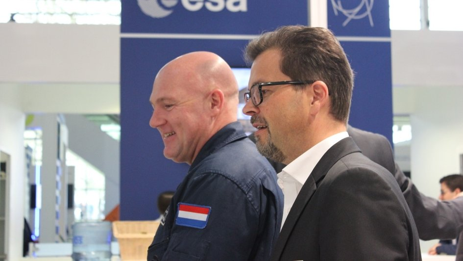 Hannover Fair: André Kuipers at CERN ESA stand