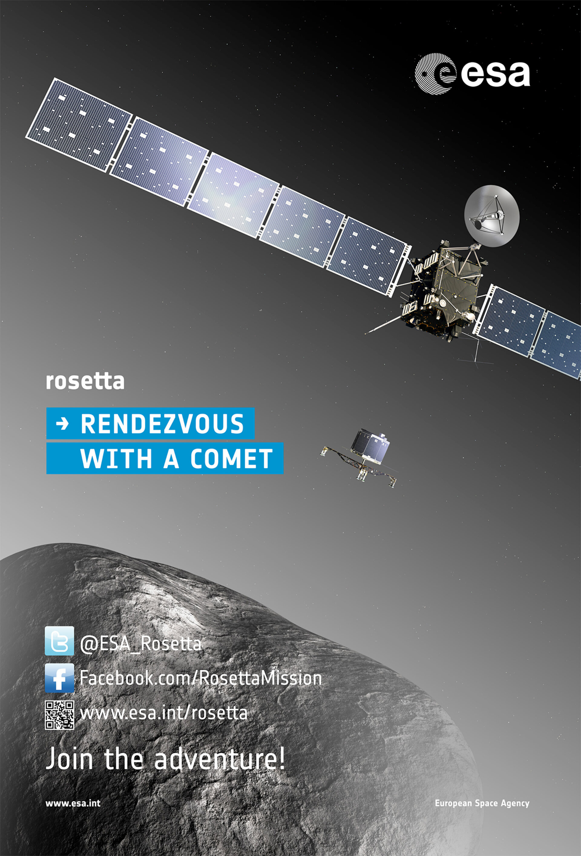 Join the adventure Rosetta mission poster