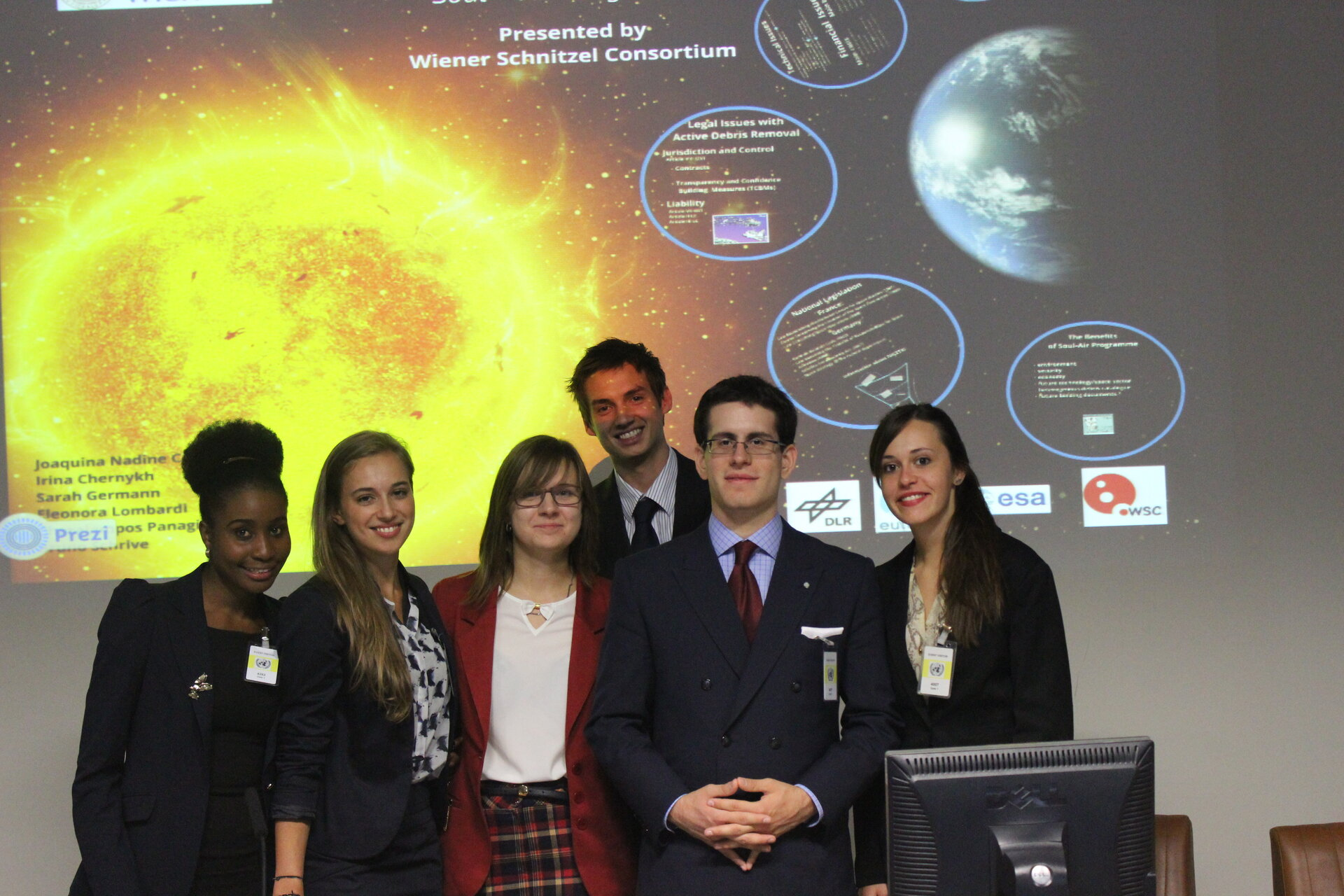 One group presents their project at the UN OOSA