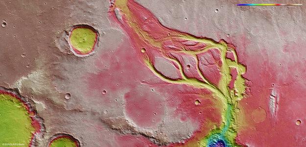 Osuga Valles topography