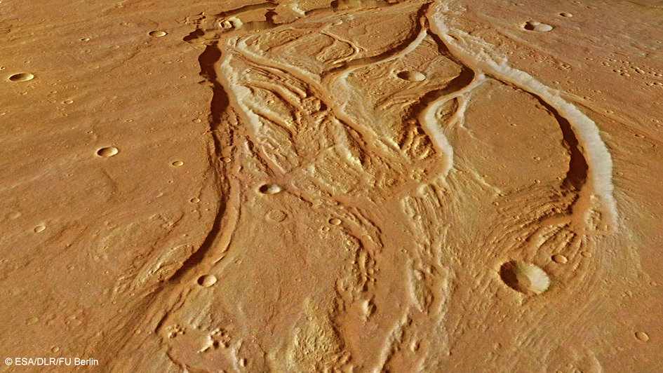 Perspective view of Osuga Valles