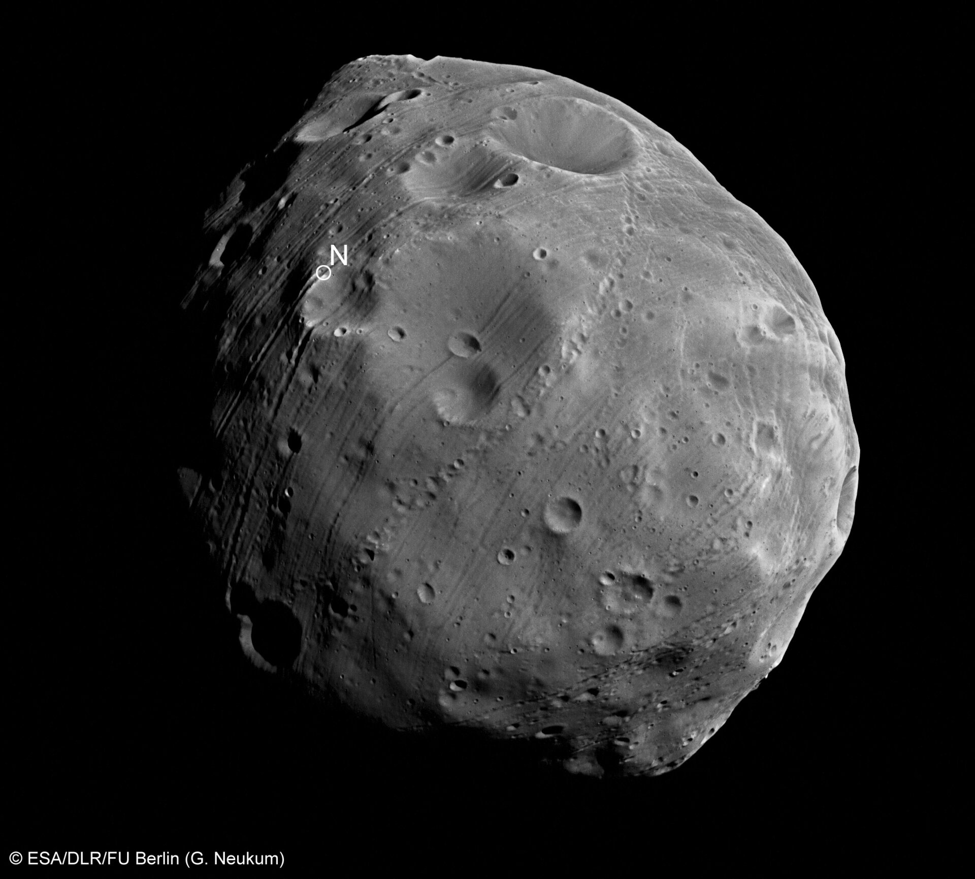 Phobos close up
