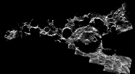 A peppering of craters at the Moon's south pole