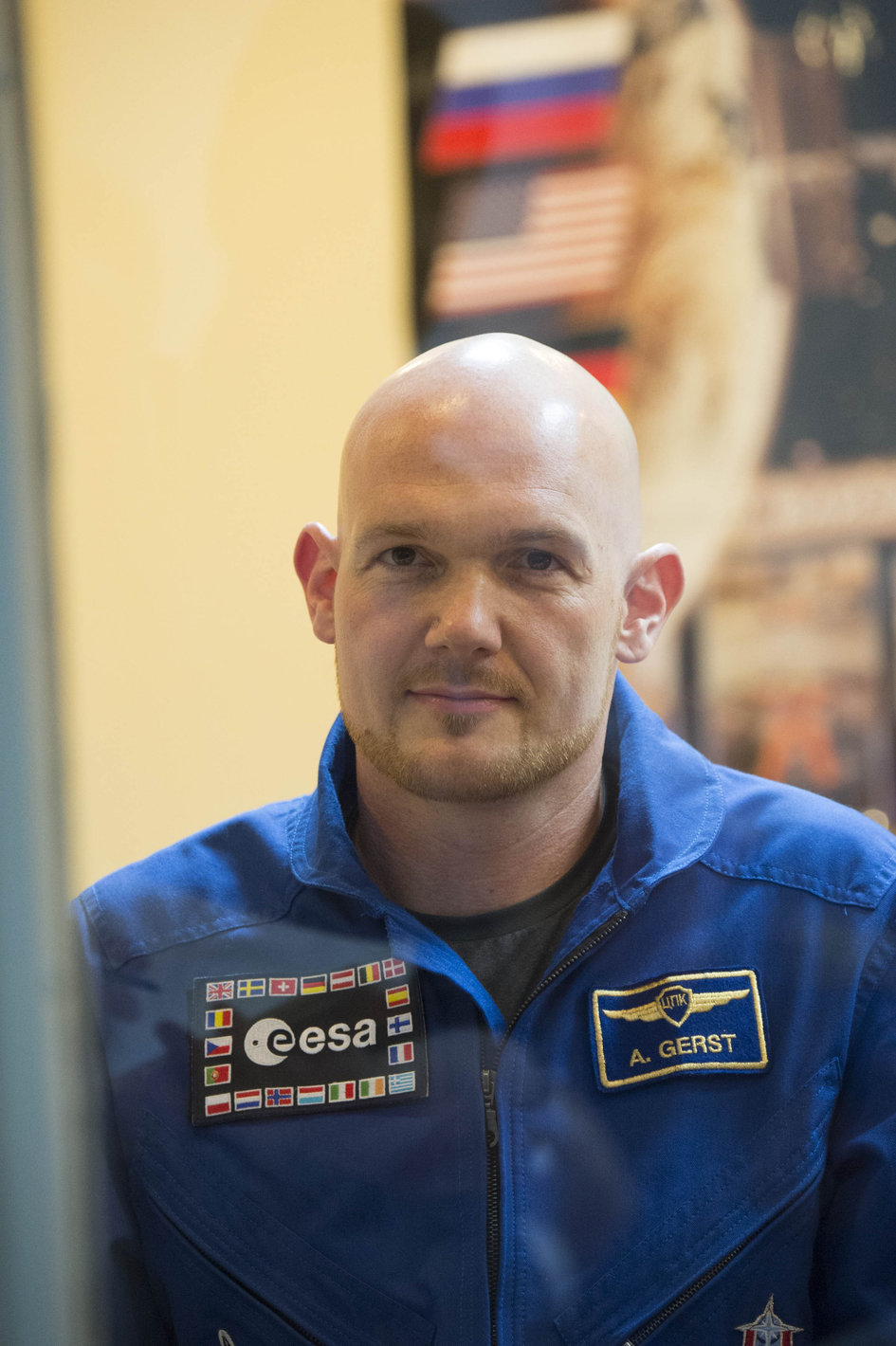 Alexander Gerst during the press conference