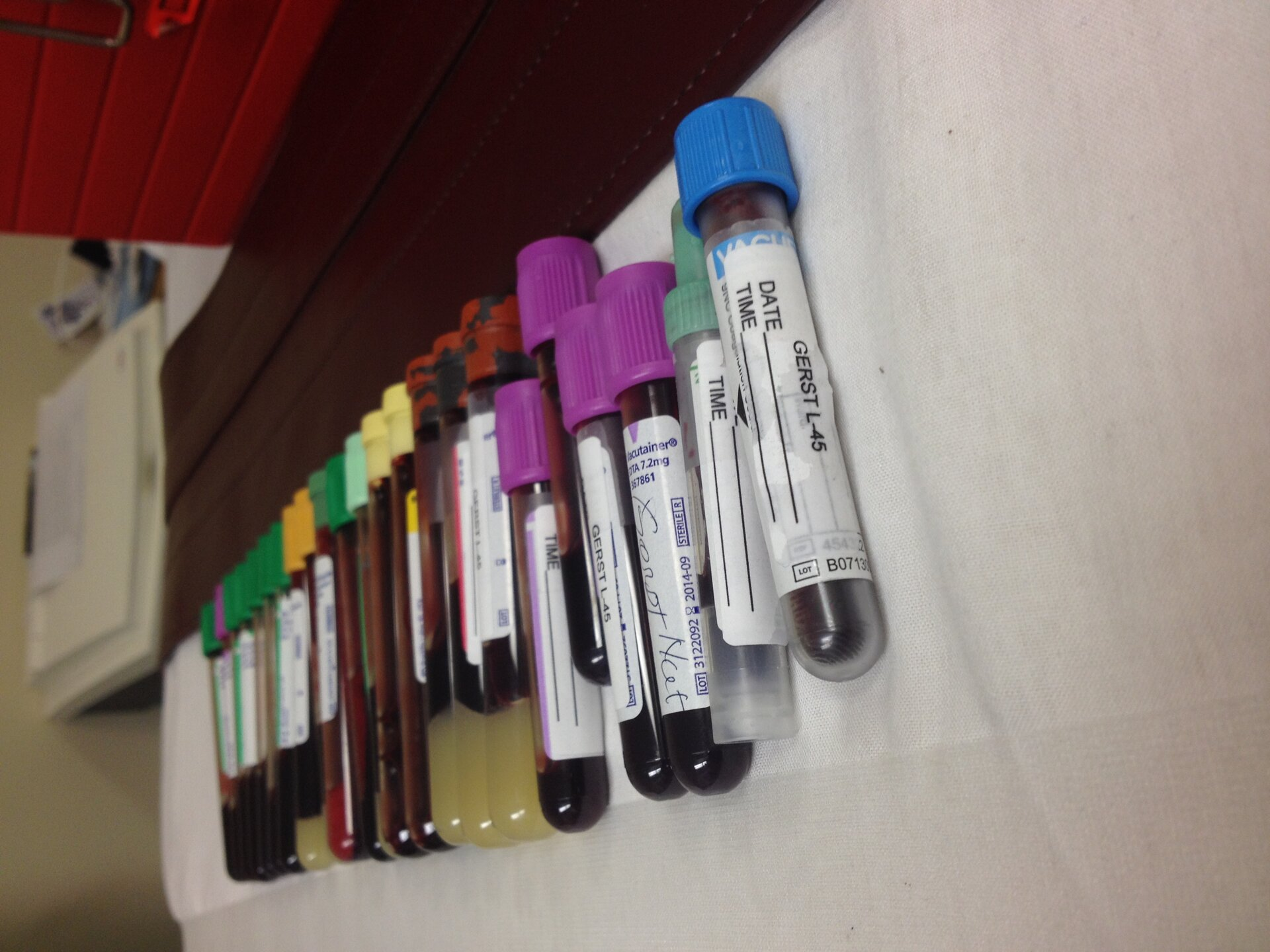 Alexander's blood samples
