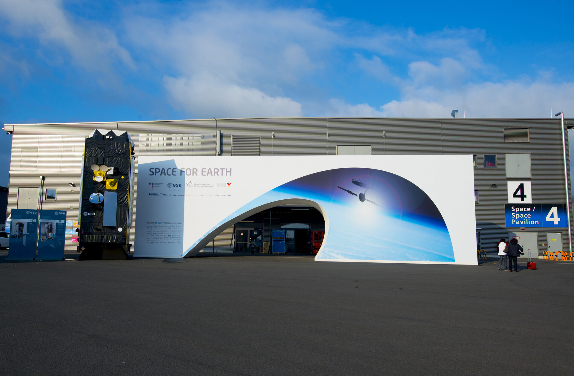 Entrance of the 'Space for Earth' space pavilion at ILA 2014