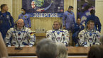 [15/43] Expedition 40/41 crew members dressed in their Russian Sokol suits