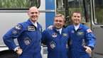 [18/43] Expedition 40/41 crew members shortly after leaving the Cosmonaut Hotel