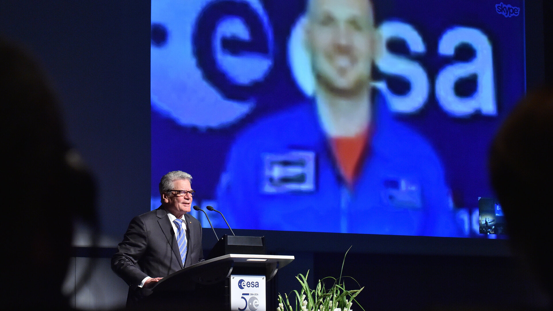 German President Gauck visits ESA in Darmstadt