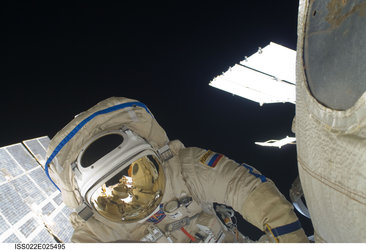 Maxim Suraev spacewalk