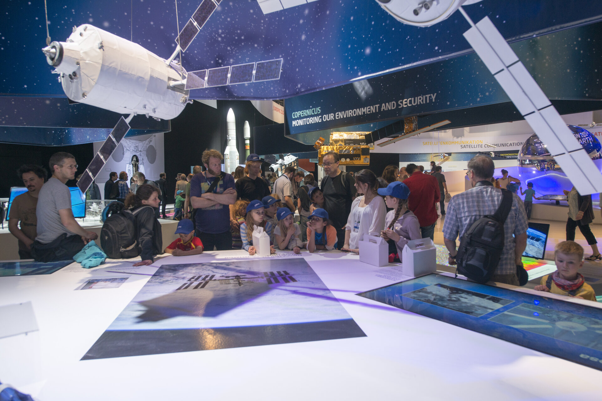 Public day at the 'Space for Earth' pavilion at ILA