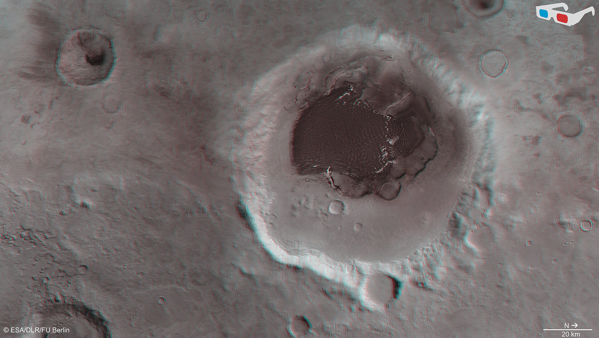 Rabe Crater 3D