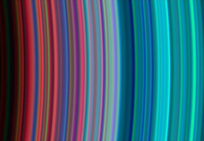 Saturn's rainbow rings